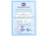 ISO体系证书英文版